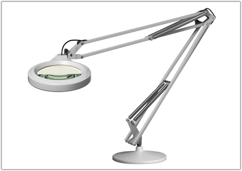 Magnifier Lamp With Weighted Base