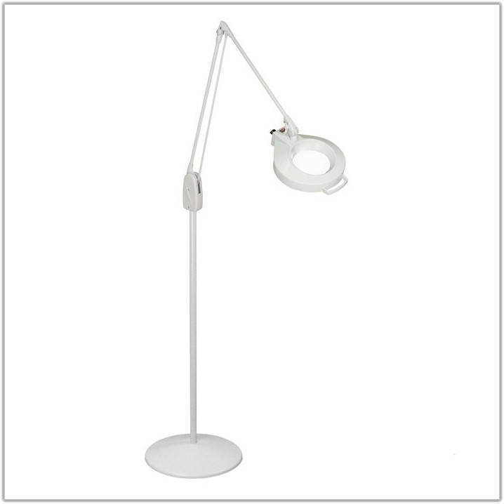 Magnifying Floor Lamp With Light