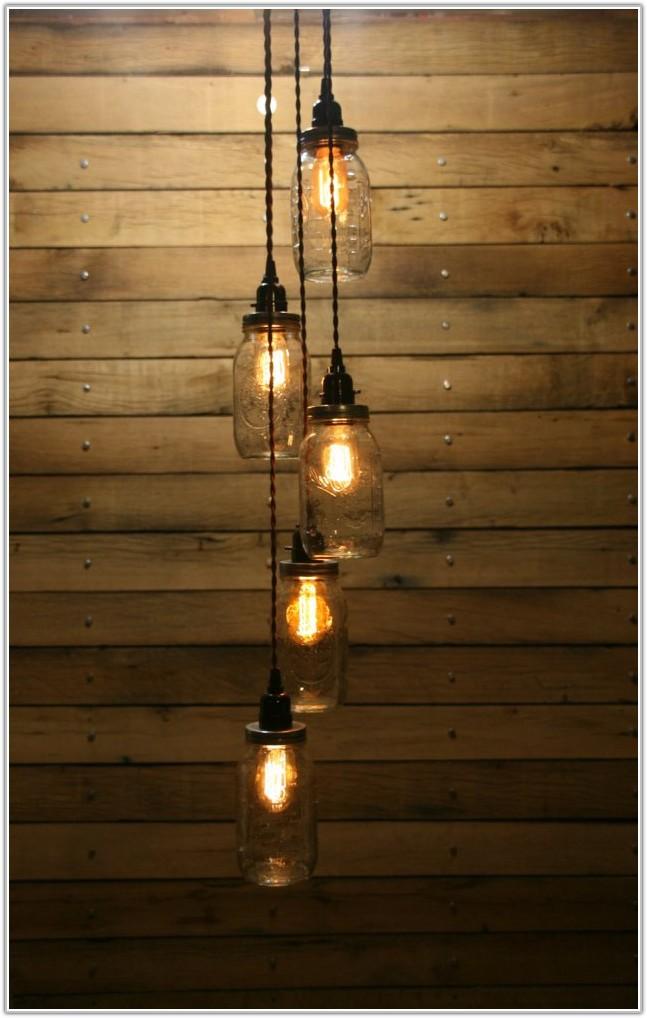Mason Jar Pendant Lamp Diy