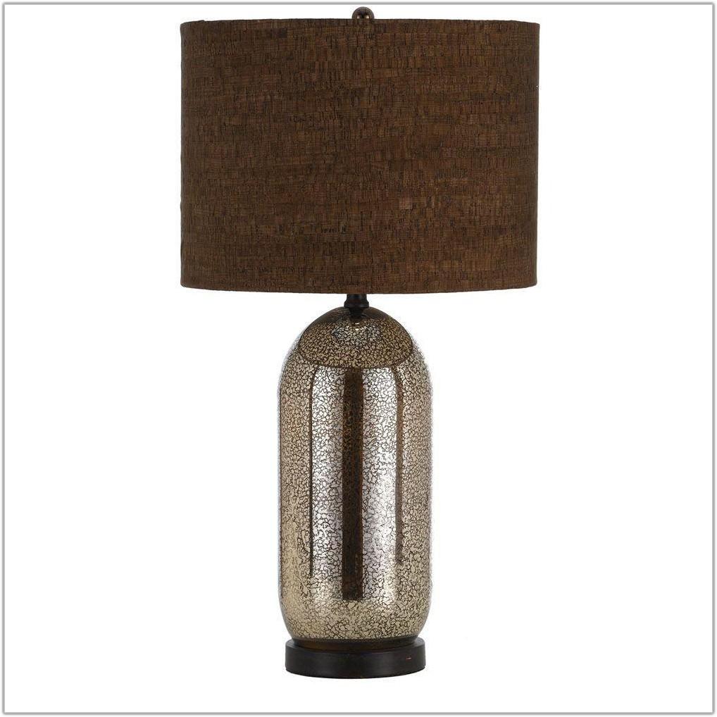 Mercury Glass Table Lamp Burlap Shade