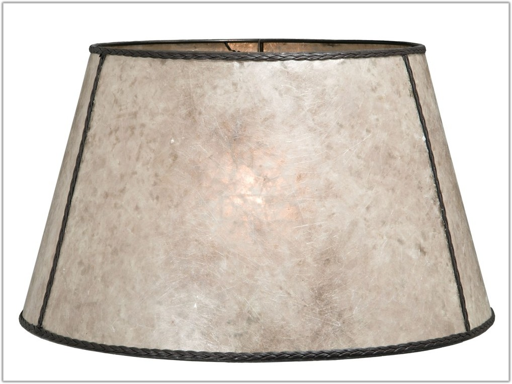 Mica Lamp Shades With Leaves