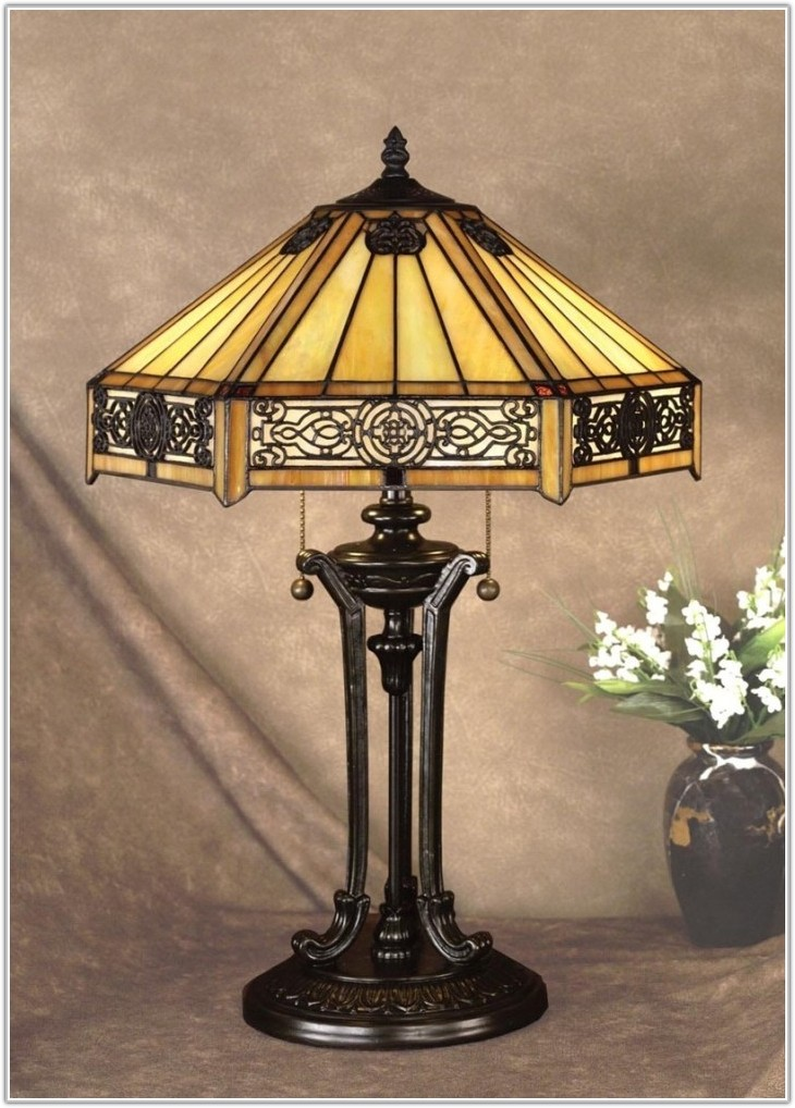 Mini Stained Glass Table Lamps