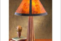 Mission Style Mica Table Lamp