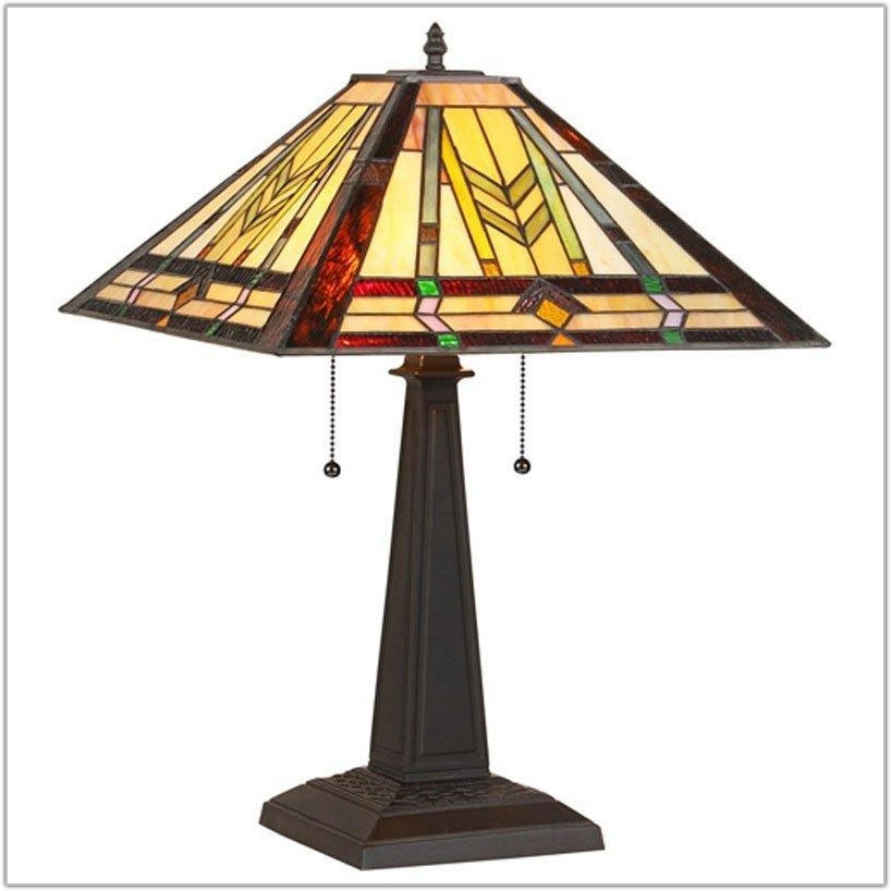 Mission Style Stained Glass Lamp Shades