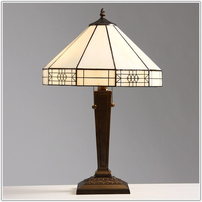 Mission Style Tiffany Desk Lamp
