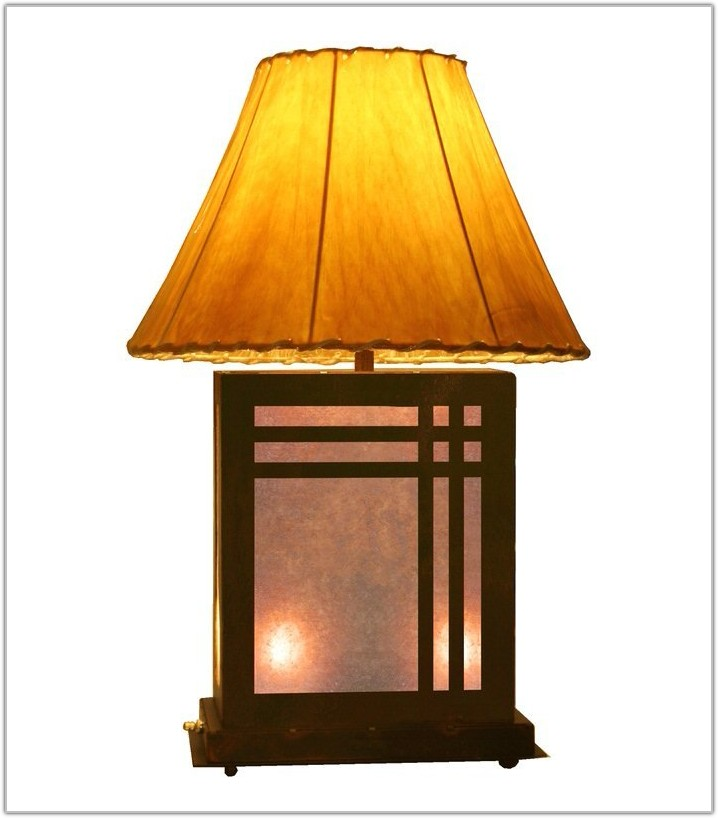 Mission Table Lamp With Night Light