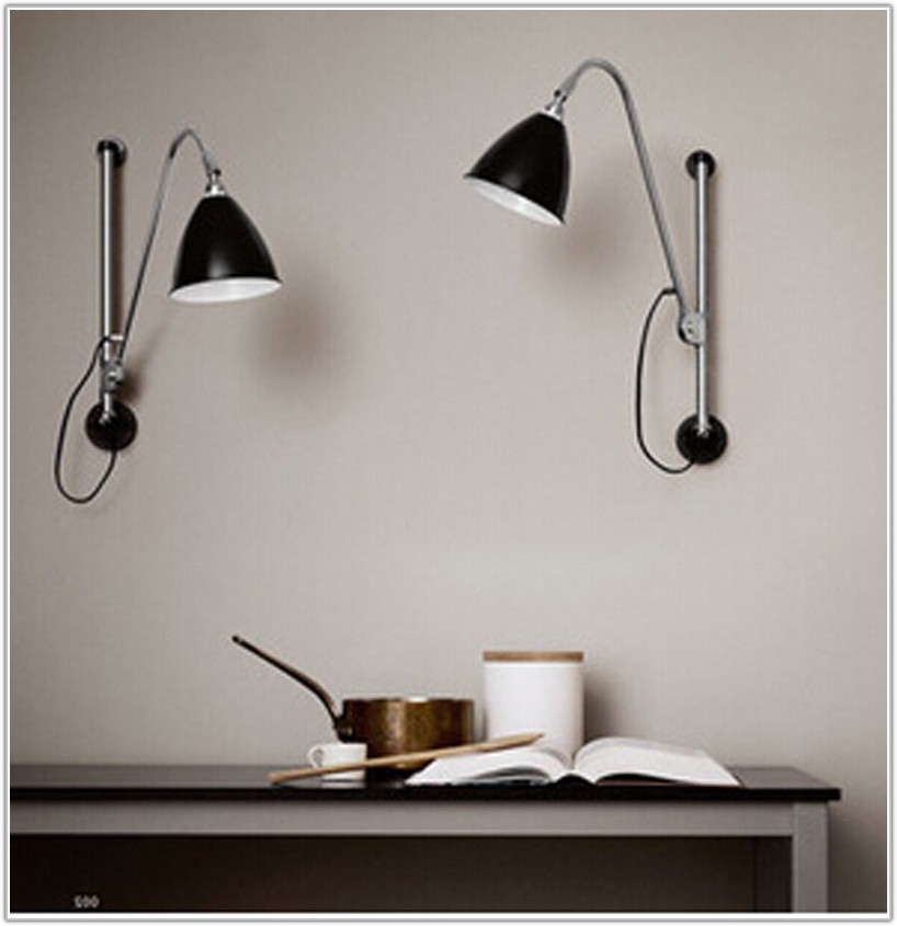 Modern Black Swing Arm Wall Lamp