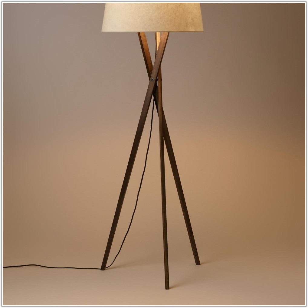 Modern Floor Lamp Wood Base