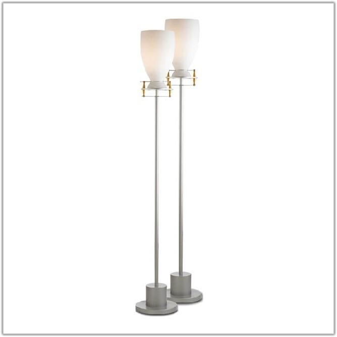 Modern Glass Shade Floor Lamp