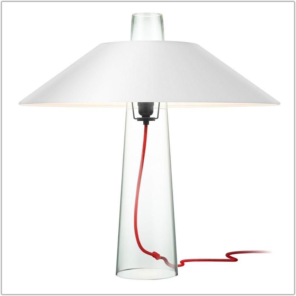 Modern Glass Shade Table Lamp