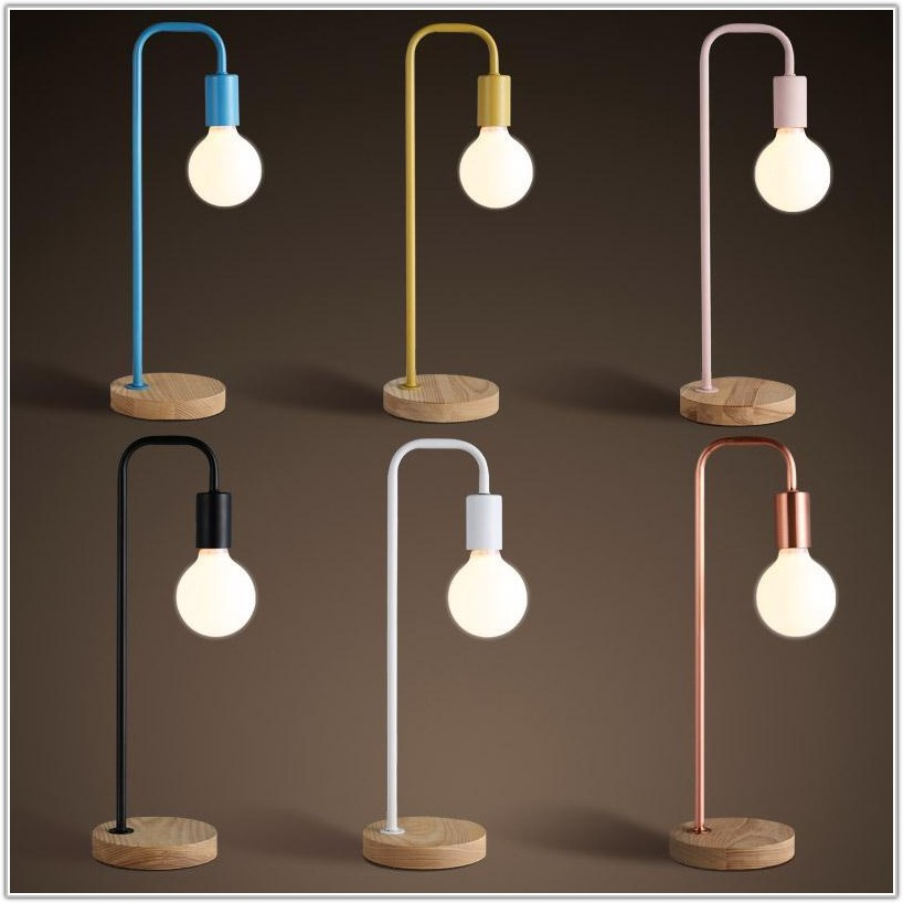 Modern Wood Base Table Lamp