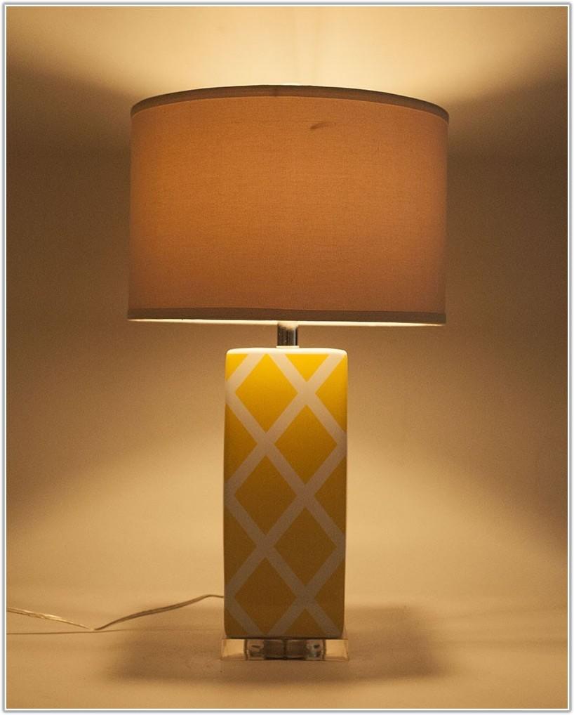 Modern Yellow Ceramic Table Lamp