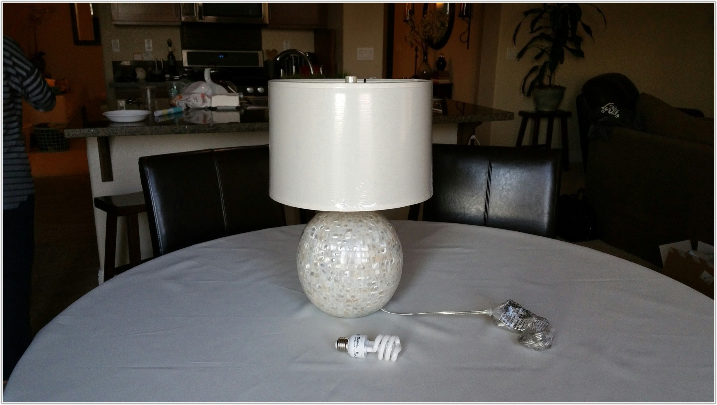 Mother Of Pearl Lamp Base