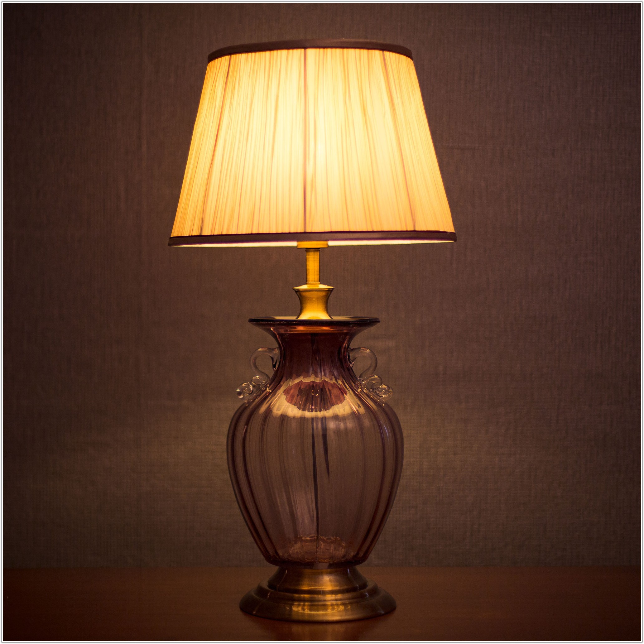 Mouth Blown Glass Table Lamp
