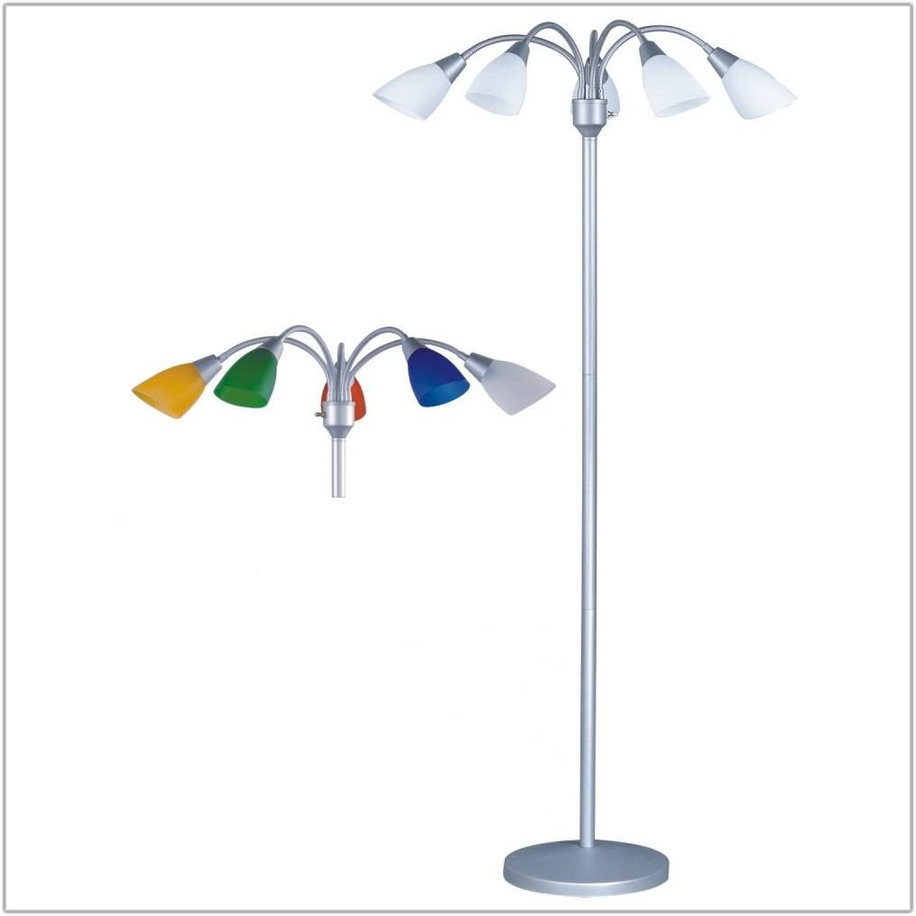 Multi Light Floor Lamp Silver