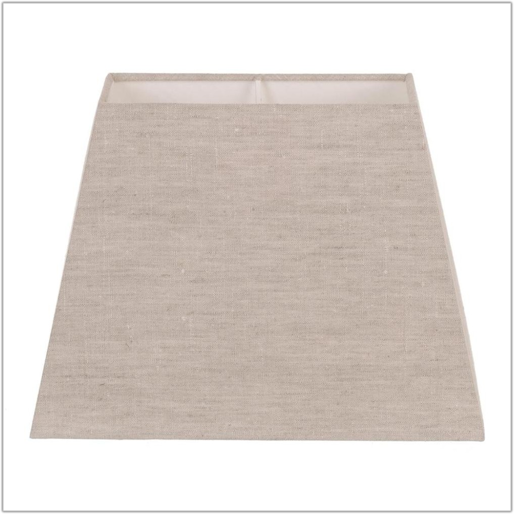 Natural Linen Rectangular Lamp Shade