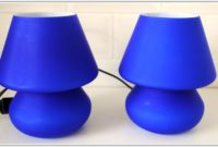 Navy Blue Bedside Table Lamps