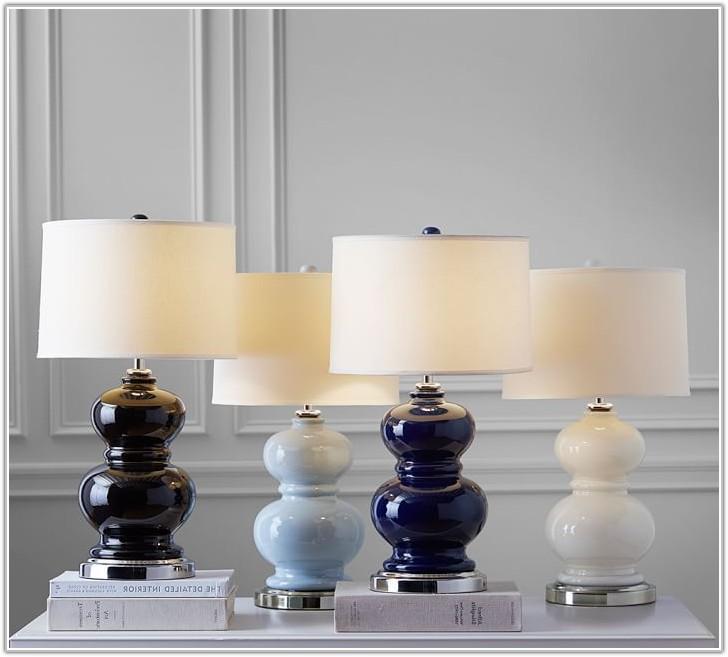 Navy Blue Ceramic Lamp Base