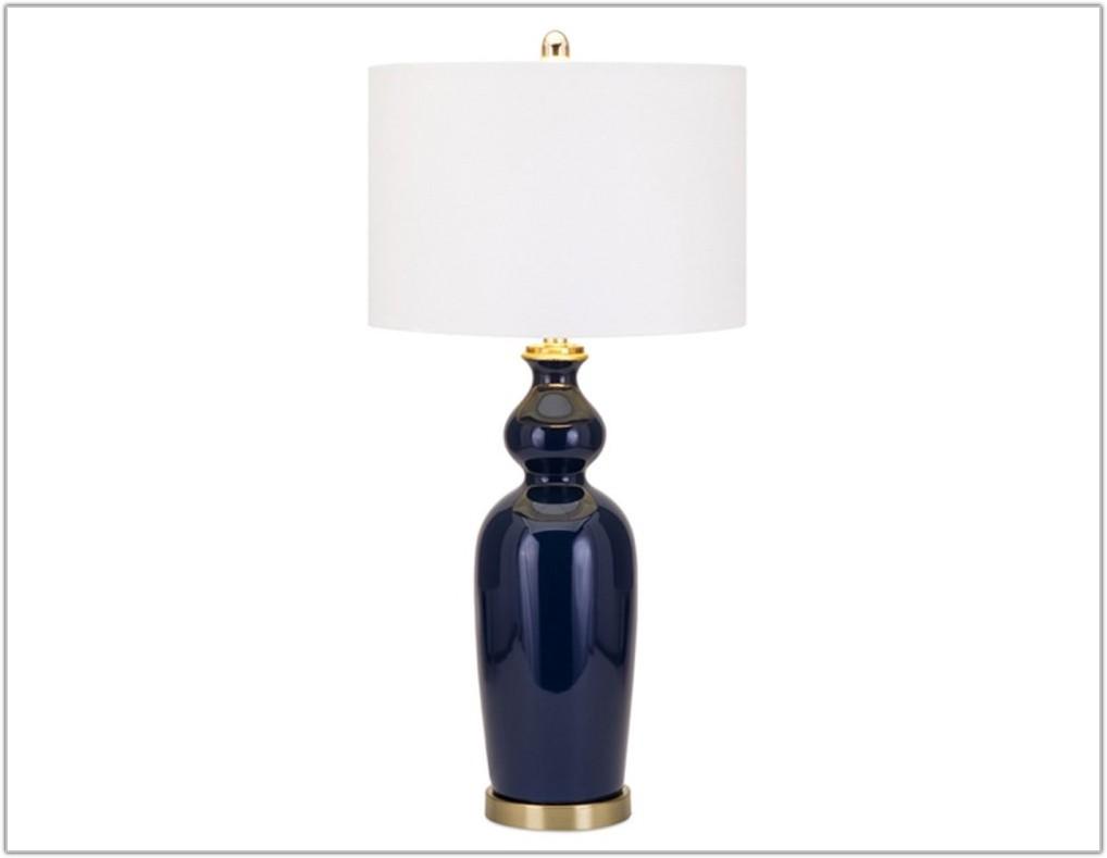 Navy Blue Ceramic Table Lamp