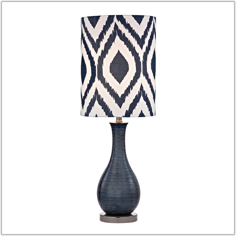 Navy Blue Ceramic Table Lamps