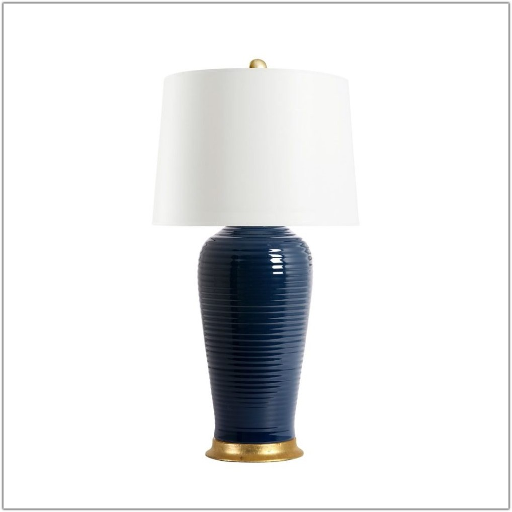 Navy Blue Lampshades Table Lamps