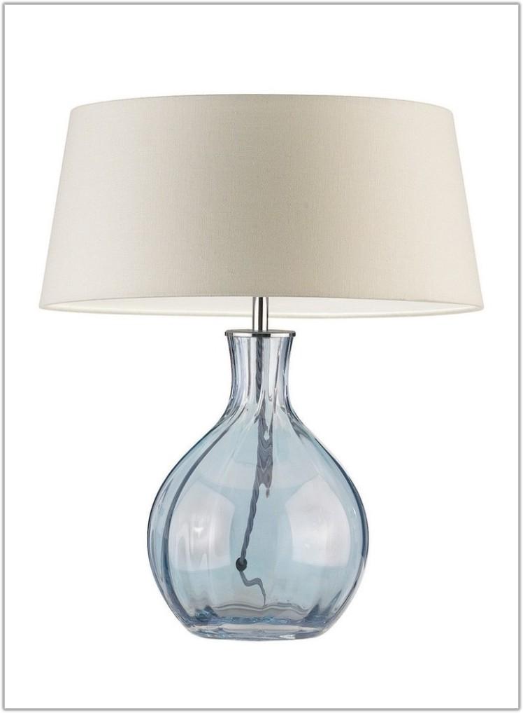 Navy Blue Porcelain Table Lamp