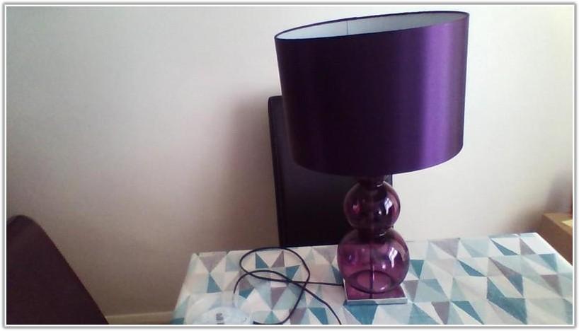 Next Purple Glass Table Lamp