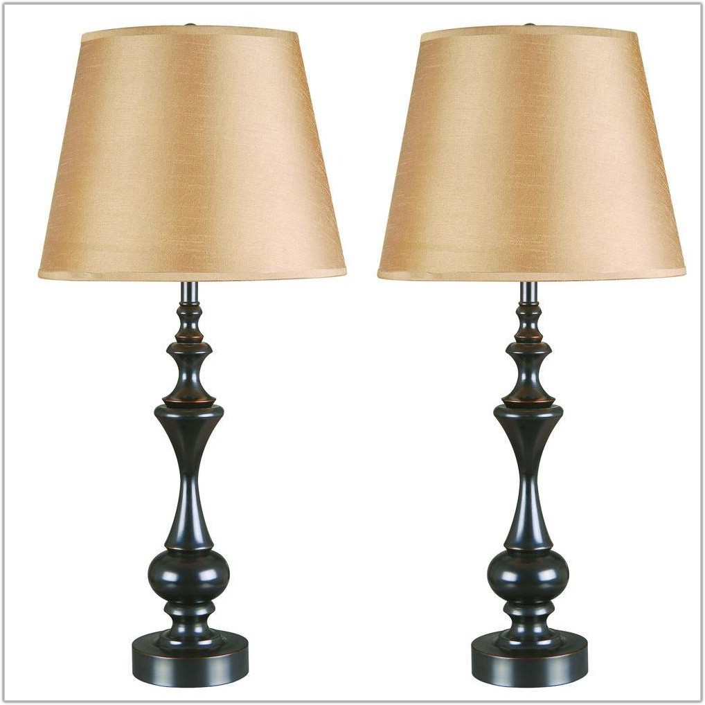 Oil Rubbed Bronze Lamp Set