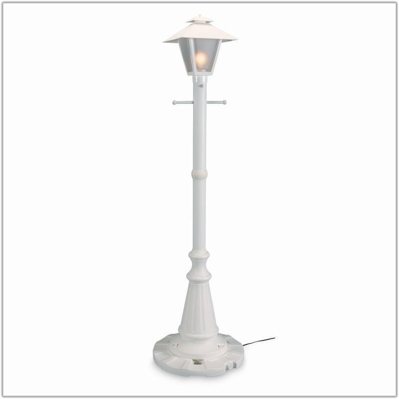 Outdoor Solar Lamp Post With Planter