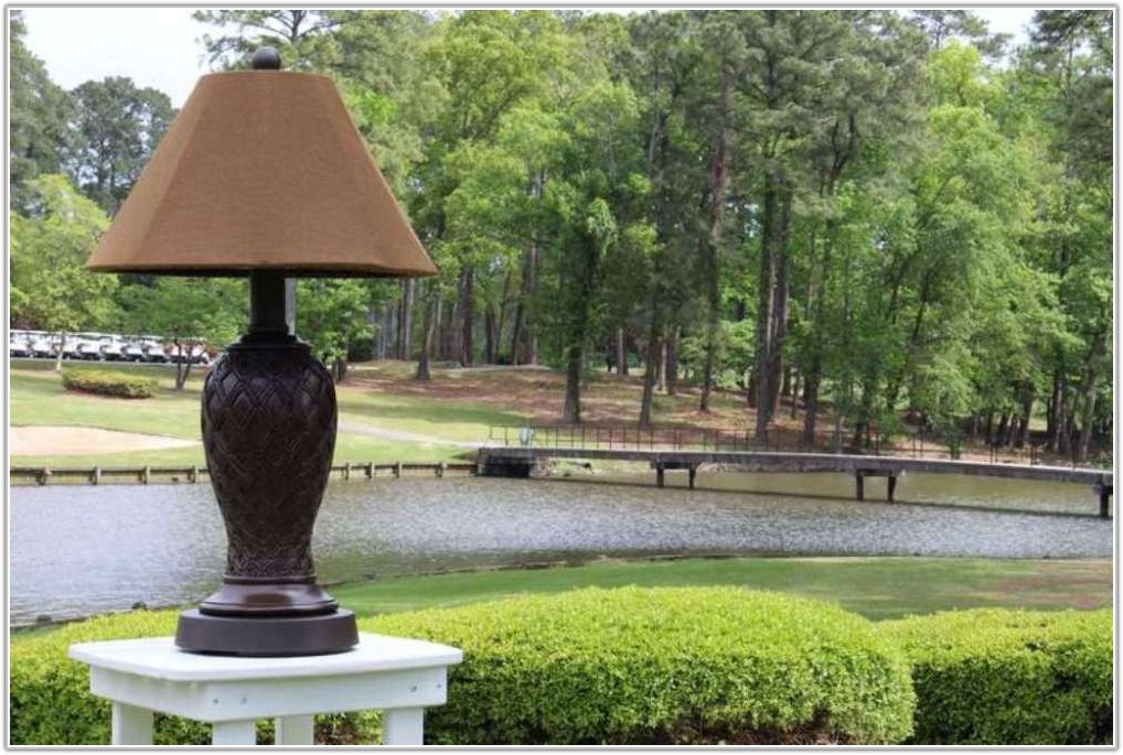 Outdoor Table And Floor Lamps