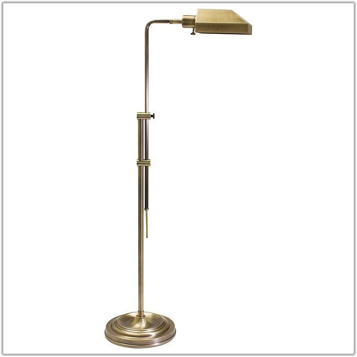 Pharmacy Floor Lamp Antique Brass
