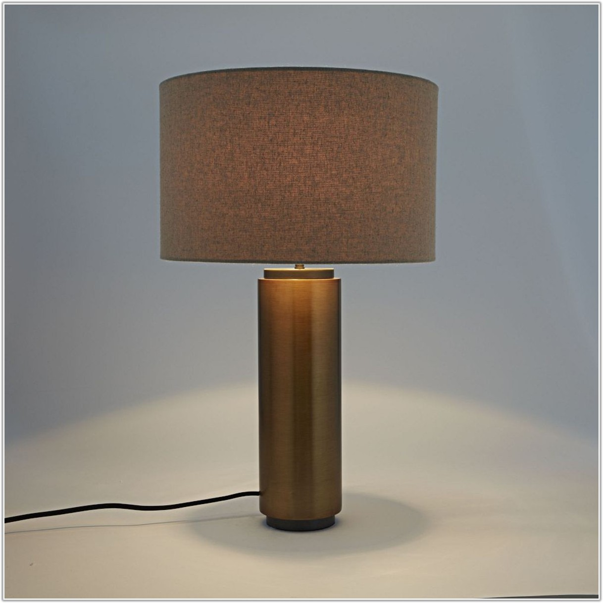 Pillar Table Lamp Antique Brass