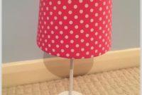 Pink Polka Dot Bedside Lamp