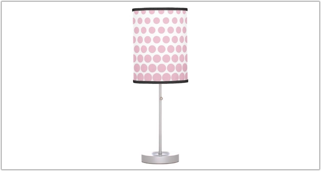 Pink Polka Dot Table Lamp