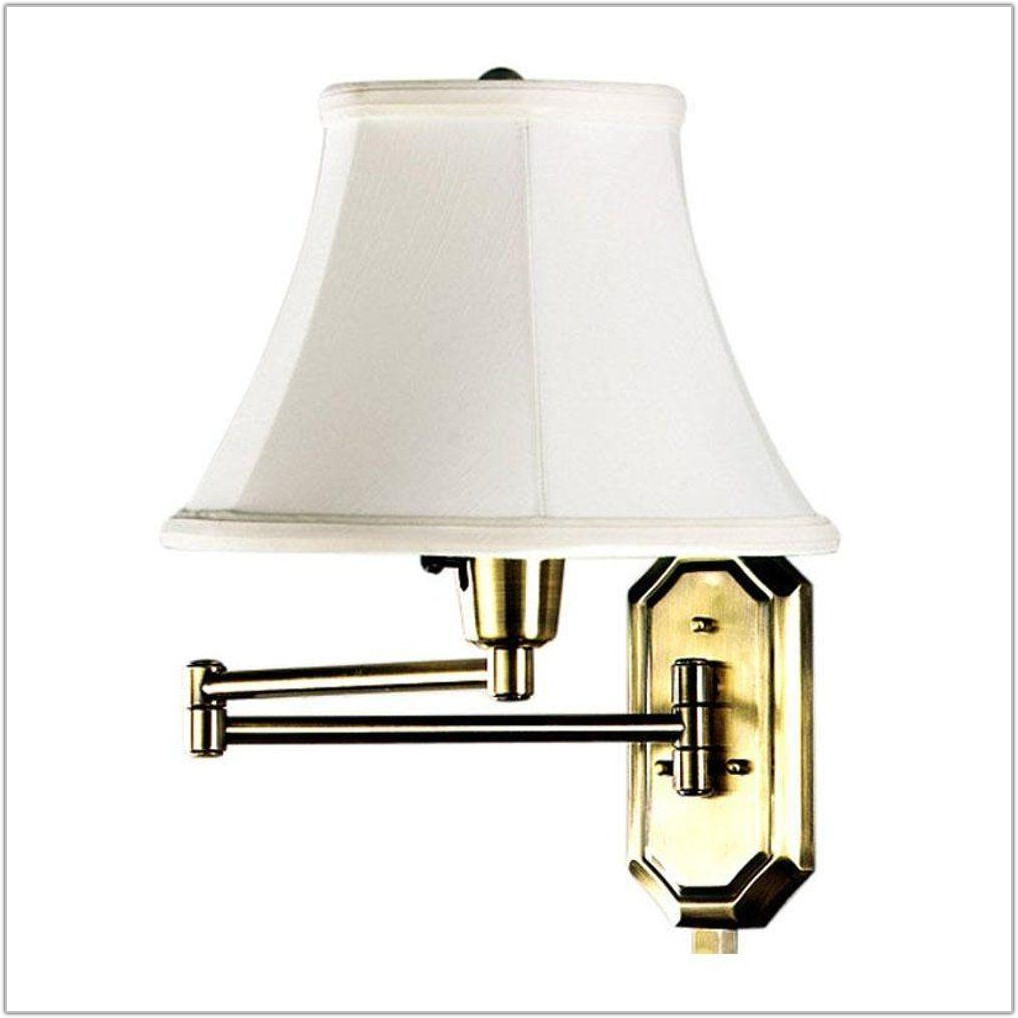 Polished Brass Swing Arm Lamp