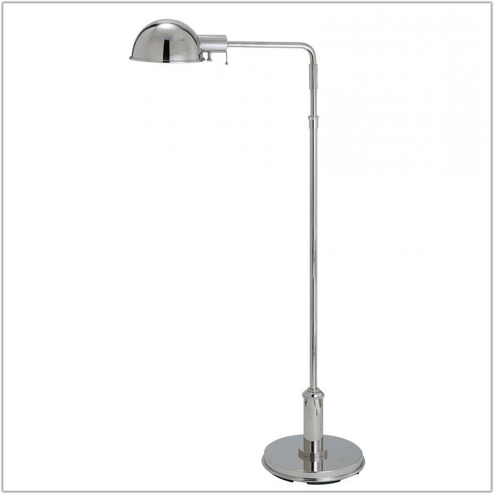 Polished Nickel Pharmacy Floor Lamp