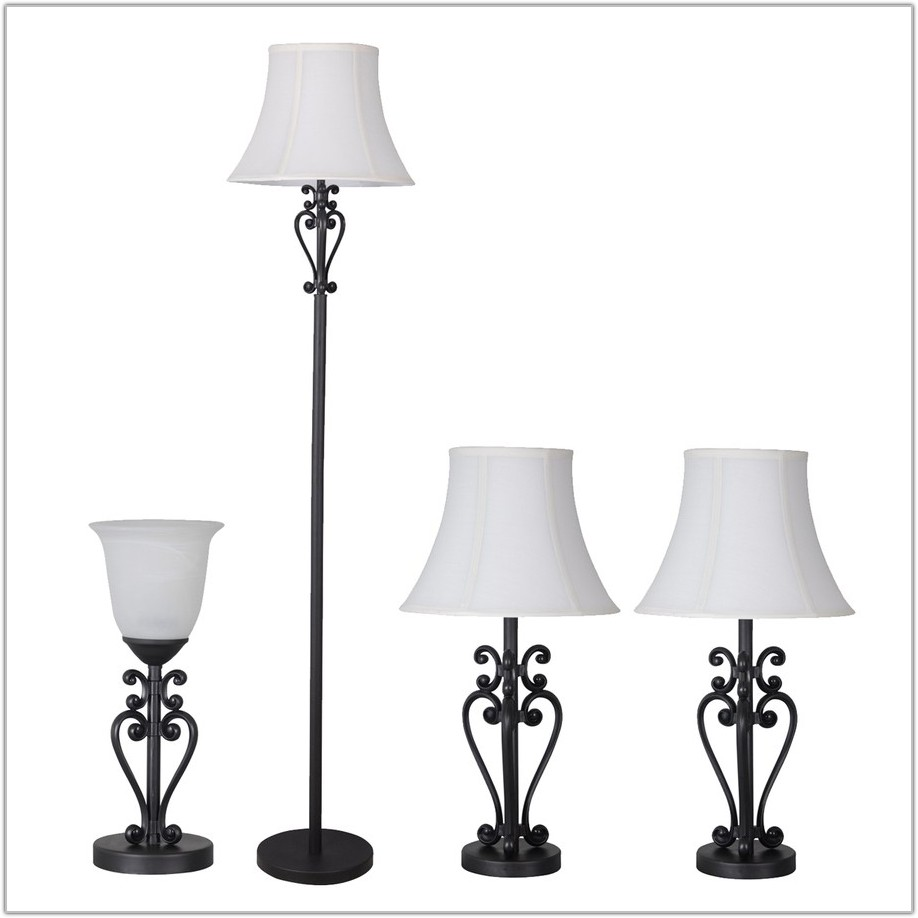 Portfolio 4 Piece Bronze Lamp Set