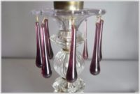Purple Clear Glass Table Lamps