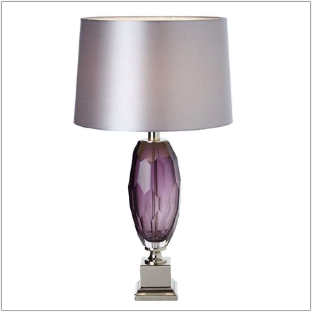 Purple Glass Table Lamp Base