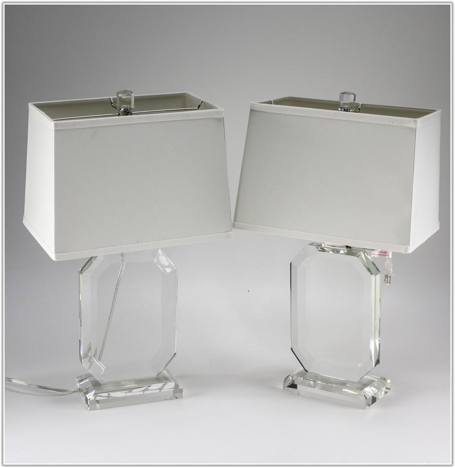 Ralph Lauren Crystal Table Lamps