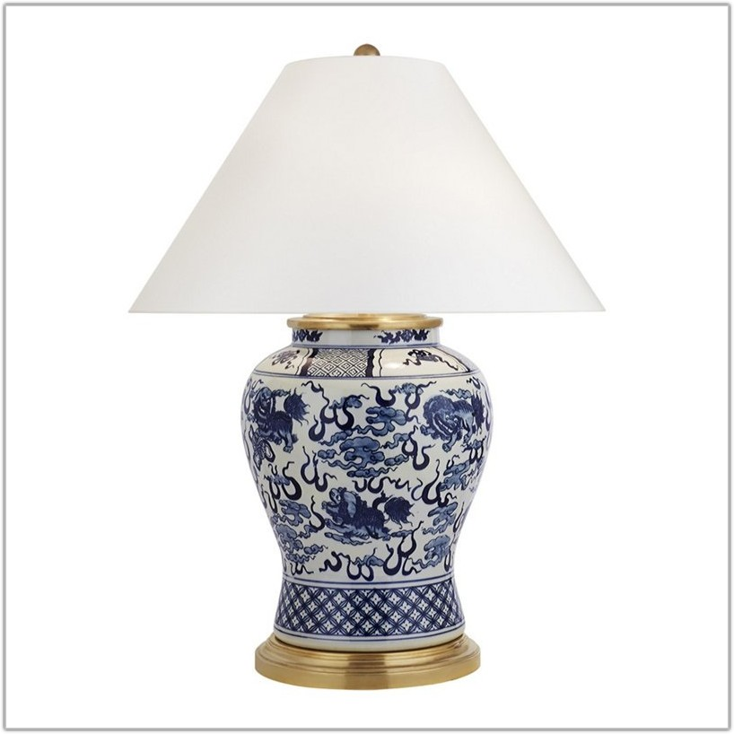 Ralph Lauren Table Lamps Blue And White