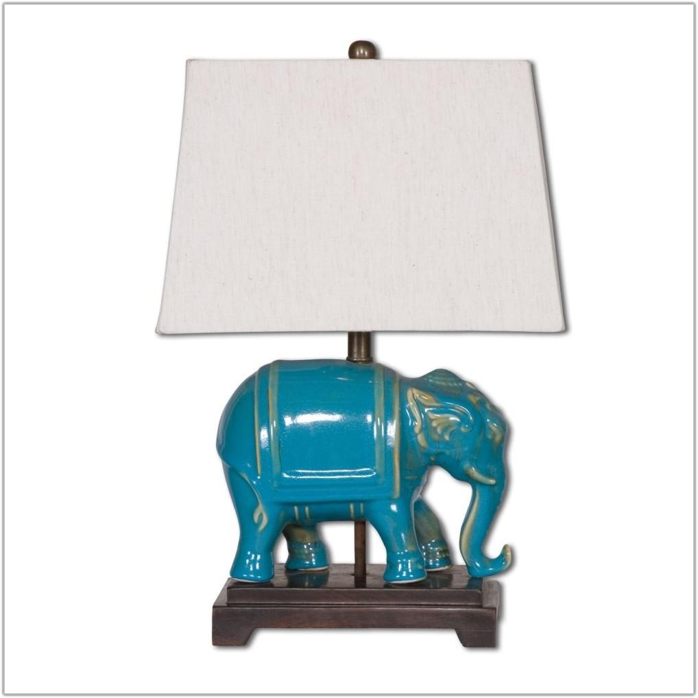 Reactive Blue Blend Ceramic Table Lamp