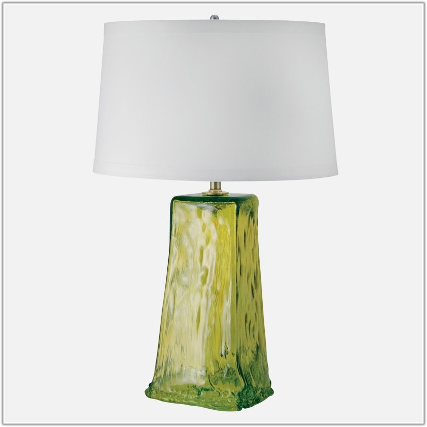 Recycled Green Glass Table Lamp