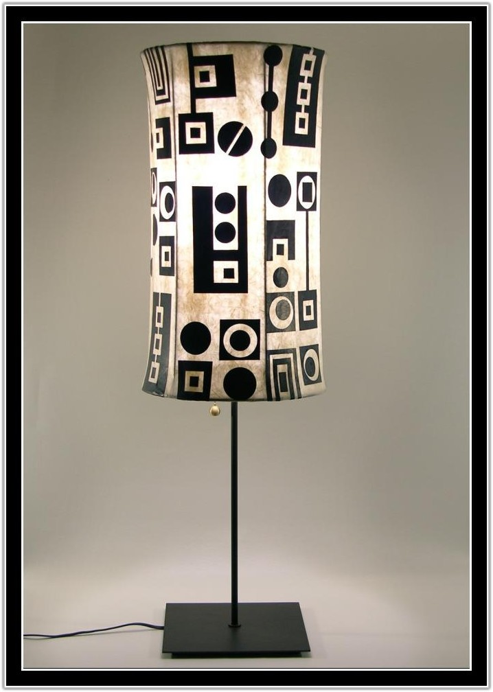 Red Black And White Lamp Shade