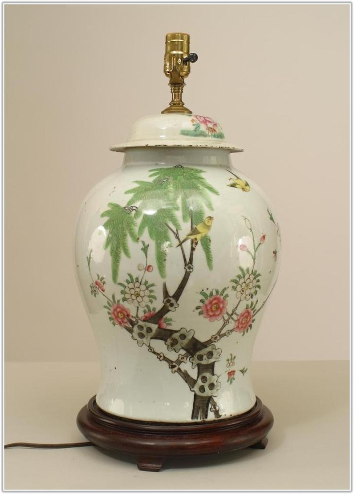 Red Ginger Jar Table Lamp