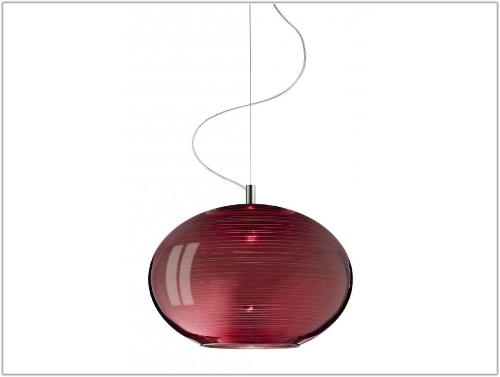 Red Glass Pendant Lamp Shade