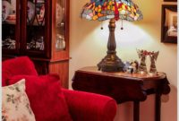 Red Stained Glass Table Lamps