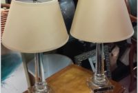 Restoration Hardware Glass Table Lamps