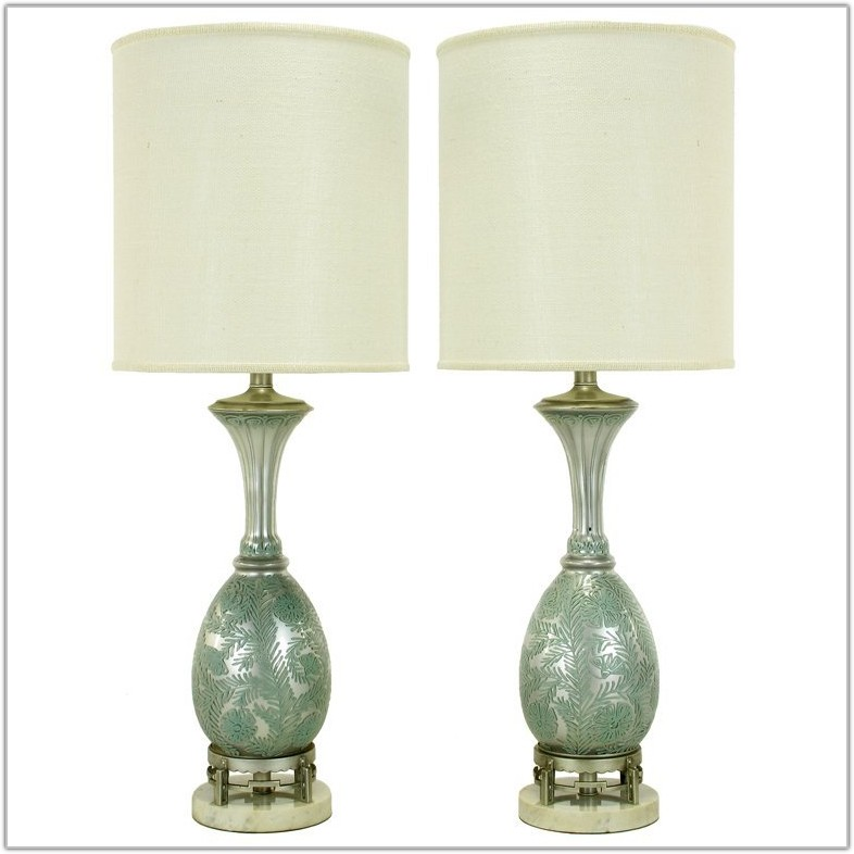 Reverse Hand Painted Table Lamps