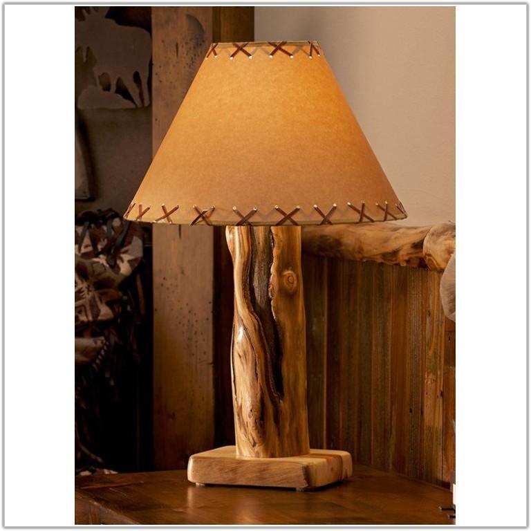 Rustic Log Cabin Table Lamps